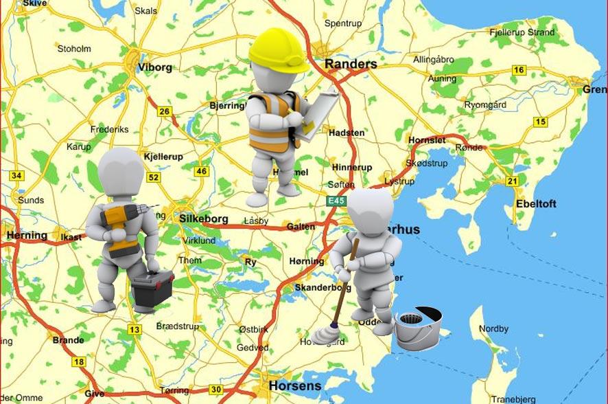 ruteplanlægning til service og tilsynsopgaver