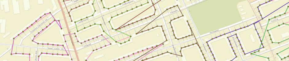 Postal dense routes