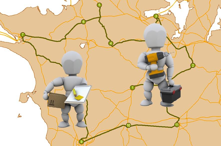 Ruteplanlægning til ArcGIS