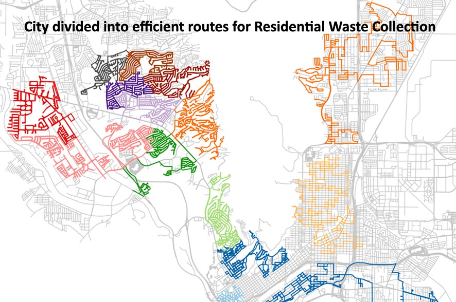 Efficient Routes for Residential Waste Collection