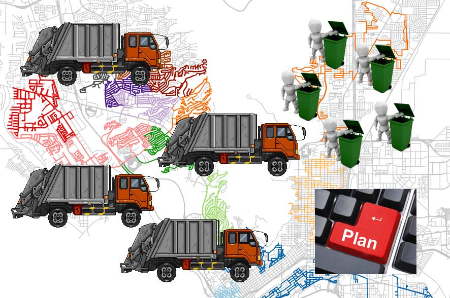 Waste collection route planning