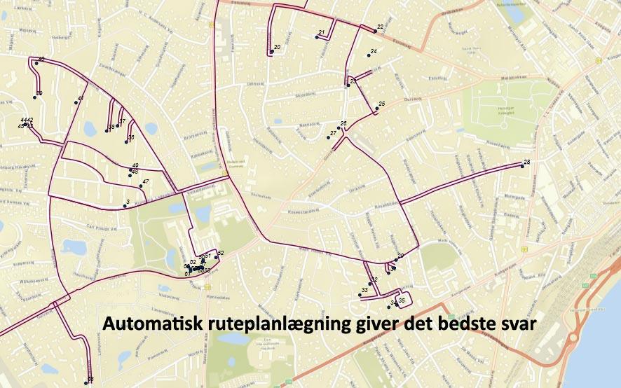 Pakke distribution ruteplanlægning